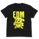 【グッズ-Tシャツ】ポプテピピック EDM Tシャツ蓄光Ver./BLACK-Mの画像
