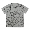 【グッズ-Tシャツ】ウルトラマン ジャミラ模様 Tシャツ/MIX GRAY-XLの画像