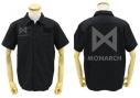 【グッズ-Tシャツ】ゴジラ キング・オブ・モンスターズ MONARCH ワッペンベースワークシャツ/BLACK-XLの画像