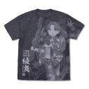 【グッズ-Tシャツ】艦隊これくしょん 綾波 オールプリントTシャツ 夏祭り浴衣mode/DARK HEATHER NAVY-XLの画像