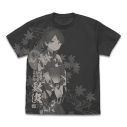 【グッズ-Tシャツ】艦隊これくしょん 敷波 オールプリントTシャツ 夏祭り浴衣mode/SUMI-XLの画像