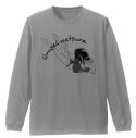 【グッズ-Tシャツ】うる星やつら ラムちゃん 袖リブロングスリーブTシャツ MIX GRAY XLの画像