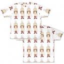 【グッズ-Tシャツ】ワンパンマン サイタマ総柄 両面フルグラフィックTシャツ/Lの画像