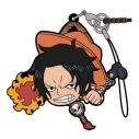 【グッズ-ストラップ】ワンピース エース つままれストラップ (戦闘態勢Ver.)の画像