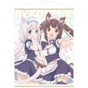 【グッズ-タペストリー】ネコぱら ショコラ&バニラ 100cmタペストリーの画像