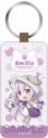 【グッズ-キーホルダー】Re:ゼロから始める異世界生活 レザーキーホルダー エミリア 猫耳ワンピースver.の画像
