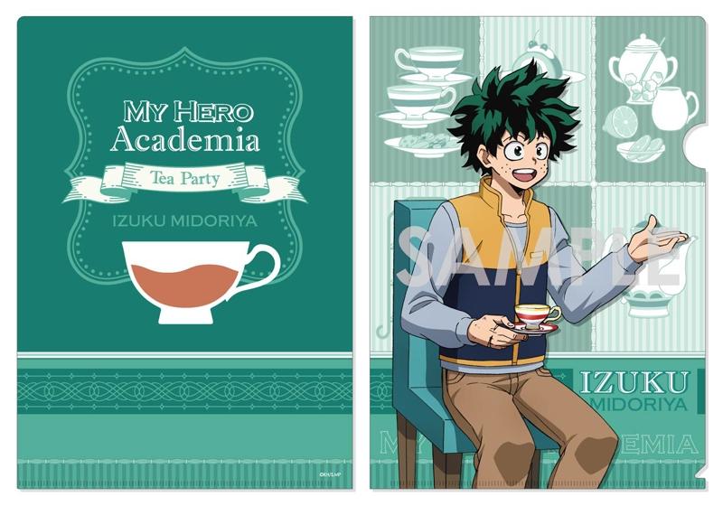 【グッズ-クリアファイル】僕のヒーローアカデミア クリアファイル~お茶会~ A.緑谷 出久【アニメイト先行販売】