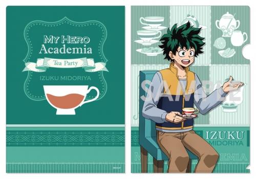 グッズ クリアファイル 僕のヒーローアカデミア クリアファイル お茶会 A 緑谷 出久 アニメイト先行販売 アニメイト