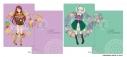 【グッズ-クリアファイル】オールアイカツ! クリアファイル -Flower- B.紫吹 蘭&藤堂ユリカ【アニメイト限定】の画像