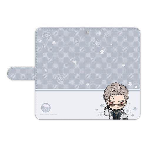 刀剣乱舞-ONLINE- ぽてだん! 手帳型モバイルフォンケース(フリーサイズ)86:山鳥毛_0