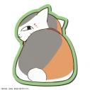 【グッズ-マウスパッド】夏目友人帳 ラバーマウスパッド デザイン02(ニャンコ先生/B)の画像