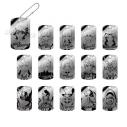【グッズ-キーホルダー】バック・アロウ トレーディングドッグタグキーホルダーの画像