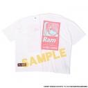 【グッズ-Tシャツ】Re:ゼロから始める異世界生活 ラム&レム ビッグシルエットTee ラム ホワイト Lの画像