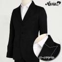 【コスプレ-衣装】リニューアル版 ピークドラペル ジャケット(男装仕様) 3つボタン ブラック Lの画像