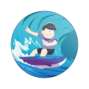 【グッズ-バッチ】おそ松さん WE ARE SURFERS デカンバッチ カラ松の画像