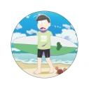 【グッズ-バッチ】おそ松さん WE ARE SURFERS デカンバッチ チョロ松の画像