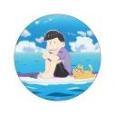 【グッズ-バッチ】おそ松さん WE ARE SURFERS デカンバッチ 一松の画像