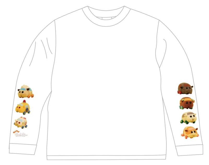 【グッズ-Tシャツ】PUI PUI モルカー ロングTシャツ 110㎝
