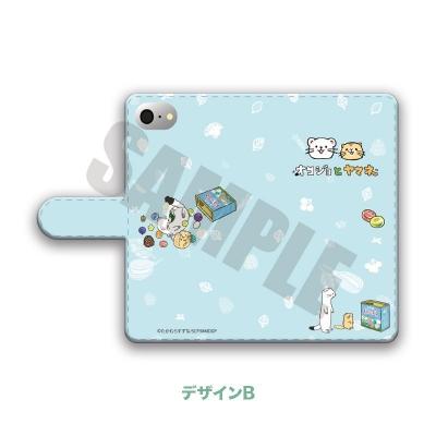 9043e89b25 【グッズ-カバーホルダー】オコジョとヤマネ 手帳型スマホケース(iPhone5/5s/SE) B