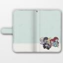 【グッズ-カバーホルダー】ゾンビランドサガ 手帳型スマホケース(フランシュシュ/おやすみ)汎用Lサイズの画像