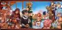 【グッズ-マット】電撃文庫 ソードアート・オンライン ブシロード ラバーマット(横長)『砂漠の宴』の画像