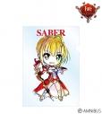 【グッズ-クリアファイル】Fate/EXTRA Last Encore セイバー デフォルメAni-Art クリアファイルの画像
