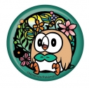 【グッズ-バッチ】ポケットモンスター 切り絵シリーズ 和紙缶バッジ モクローAの画像