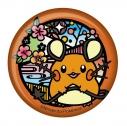 【グッズ-バッチ】ポケットモンスター 切り絵シリーズ 和紙缶バッジ デデンネAの画像
