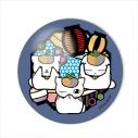 【グッズ-マグネット】夏目友人帳 切り絵シリーズ ガラスマグネット トリプルニャンコ先生A 提灯の画像