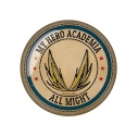【グッズ-マグネット】僕のヒーローアカデミア ヴィンテージシリーズ ガラスマグネット オールマイトの画像