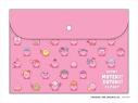【グッズ-ポーチ】星のカービィ KIRBY MUTEKI! SUTEKI! CLOSET フラットケース ピンクの画像