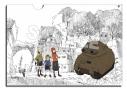 【グッズ-クリアファイル】映像研には手を出すな! A4クリアファイル 芝浜高校 公立ダンジョン 戦車の世界&個人防衛戦車&ミリタリー電撃三人娘の画像