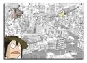 【グッズ-クリアファイル】映像研には手を出すな! A4クリアファイル 芝浜高校 公立ダンジョン 風車の世界&びっくり浅草氏の画像