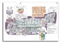 【グッズ-クリアファイル】映像研には手を出すな! A4クリアファイル 芝浜高校 公立ダンジョン 部室船計画設定画&宇宙服電撃三人娘の画像