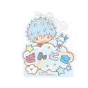【グッズ-キーホルダー】銀魂 × Sanrio characters おなまえキーホルダー 銀時の画像