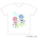 【グッズ-Tシャツ】Re:ゼロから始める異世界生活 フルカラーTシャツ(ラム&レム/幼少期)XLサイズの画像