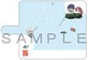【グッズ-カバーホルダー】ゾンビランドサガ 手帳型スマホケース(さくら&愛&純子&ロメロ)汎用Lサイズの画像