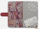 【グッズ-カバーホルダー】あひるの空 手帳型スマホケース(九頭龍高校)汎用Lサイズの画像