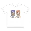 【グッズ-Tシャツ】恋する小惑星 フルカラーTシャツ(木ノ幡みら&真中あお)XLサイズの画像