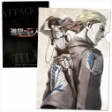 【グッズ-クリアファイル】進撃の巨人 クリアファイル/P[リヴァイ&エルヴィン]の画像