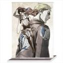 【グッズ-ポートレート】進撃の巨人 アクリルポートレートB[リヴァイ&エルヴィン]の画像