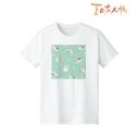 【グッズ-Tシャツ】夏目友人帳 ニャンコ先生 Ani-Art Tシャツ ミドリレディース(サイズ/L)の画像