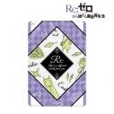 【グッズ-パスケース】Re:ゼロから始める異世界生活 エミリア ラインアート 1ポケットパスケースの画像