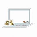 【グッズ-メモ帳】タヌキとキツネ アクリルメモパッドBの画像