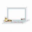 【グッズ-メモ帳】タヌキとキツネ アクリルメモパッドDの画像