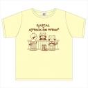 【グッズ-Tシャツ】ラスカル×進撃の巨人 Tシャツ(キービジュアル ver.) XLサイズの画像