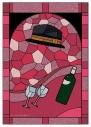 【グッズ-ミラー】文豪ストレイドッグス ステンドグラス風折りたたみミラー 中原中也の画像