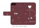 【グッズ-カバーホルダー】かぐや様は告らせたい~天才たちの恋愛頭脳戦~ 手帳型スマホケース(iPhone6/6s/7/8兼用) 01/ラブ傘デザイン(ぽすてる)の画像