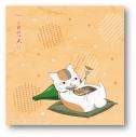 【グッズ-タオル】夏目友人帳 描き下ろし ニャンコ先生ハンドタオル(餃子)の画像