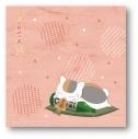 【グッズ-タオル】夏目友人帳 描き下ろし ニャンコ先生ハンドタオル(スルメ)の画像